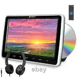 10.1 Car DVD Player Backseat Headrest Monitor HDMI-in USB SD for Kids+Headphone