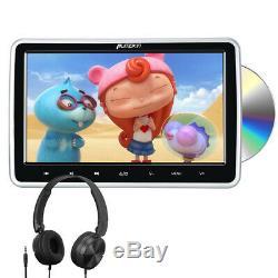 10.1 Car Headrest DVD Player for Kids HDMI Sync Screen AV in Out USB+Headphone
