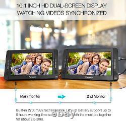 10.1 Dual Screen Portable Car Headrest DVD Player SD USB Rechargeable Battery