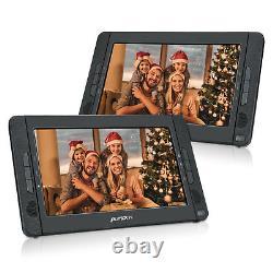 10.1 TFT Dual Screen Portable DVD Player for Car Headrest USB SD AV-IN Battery