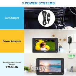 10.5 Dual Screen Portable DVD Player Car Headrest HDMI Battery USB Region Free