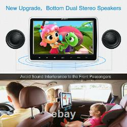 10 LCD Car Headrest HD Active TV Monitor Pillow DVD Player HDMI AV Out & in USB