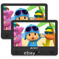 12 Dual 2 Screen DVD Player TFT Screen Car Backseat Headrest Portable USB/SD HD