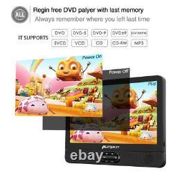 12 Dual Screen DVD Player TFT LCD Screen Car Backseat Headrest Portable USB/SD