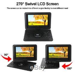 13.9 HD Portable Mobile Car DVD VCD CD Player Game FM TV 270°Swivel USA Ship