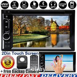 2 DIN HD Bluetooth Player Stereo Radio Car DVD Touch Screen Mirror Link For GPS