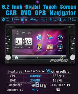 2 Din Car Stereo GPS Navigation Bluetooth Car Radio DVD Player Free Camera SWC