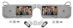 2019 Pair Dual Hd Digital Sunvisor Visor Monitors Screens LCD CD Mp3 DVD Player