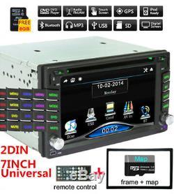 2Din 6.2'' GPS Navigation HD Car Stereo DVD CD FM Player Bluetooth Auto Radio