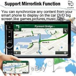 2Din Car Stereo DVD Radio Player BT FM Mirrorlink-GPS For Truck Van Pick up 4x4