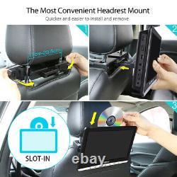 2x 10.1'' Dual Screen Car Headrest DVD Player USB Rear-Seat Monitor+2 Headphones
