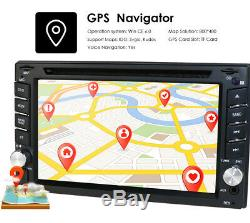 6.2 2DIN Car CD DVD Player Bluetooth Touch Screen Stereo Radio GPS+Back Camera