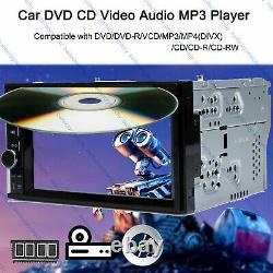 6.2 2Din Car Radio Stereo CD DVD Player Mirror Link For GPS Navi USB/BT +Camera