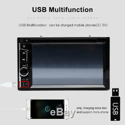 6.2 2Din Car Stereo Radio CD DVD Player Bluetooth Mirror Link Free Rear Camera