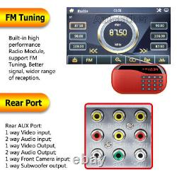 6.2 Car Stereo Bluetooth Radio Double 2Din DVD Player+Camera Mirrorlink for GPS