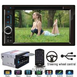 6.2 Double 2 Din Audio In Dash Stereo Car Bluetooth Radio DVD CD MP3 USB Player