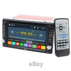 6.2 Double 2Din Car Stereo DVD CD GPS Player HD In Dash Bluetooth Radio+Camera