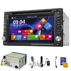 6.2 Double Din In-dash Car Stereo DVD CD Player GPS Navi Bluetooth Radio+CAMERA