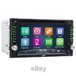 6.2 In Dash Double 2Din Car Stereo DVD CD GPS Player Touchscreen Auto Radio+Cam