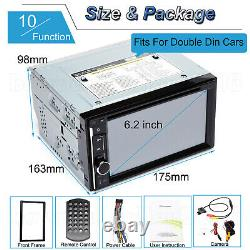 6.2'' TOUCHSCREEN Bluetooth CD DVD USB Radio Stereo Audio In-Dash Kit + Camera