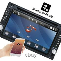 6.2 Touch Double 2DIN Car DVD CD Radio Stereo Player GPS Navigation BT + Camera