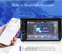 6.2IN 2DIN Car Stereo Radio DVD Player Bluetooth Audio For Chevy Silverado 1500