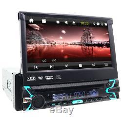 7 1 DIN Car DVD CD Player GPS Nav Flip Out Radio RDS USB SD MP3 BT Touch Screen