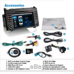 7 Bluetooth GPS Sat Nav DAB Radio CD DVD Player Stereo For Mercedes Vito W639
