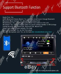 7 Single 1 DIN Car CD DVD Player GPS Nav Bluetooth HD Touch Stereo Radio+Camera