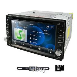 7 Touch Double 2DIN Car DVD CD Radio Stereo Player GPS Navigation SD BT Camera