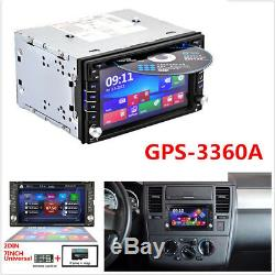 7Colors GPS Navigation 2Din HD Car Stereo DVD CD Player FM Bluetooth Radio iPod