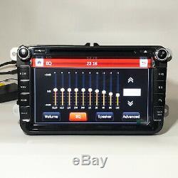 8 Radio Stereo Multimedia Car DVD Player GPS Navi For VolksWagen VW Golf Passat
