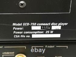ADCOM GCD-750 CD Player GFP-750 Pre-amp GFA-5802 300W Per Ch Amplifier Set