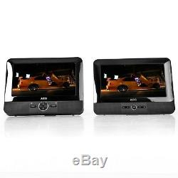 AEG DVD 4555 LCD Tragbarer DVD-Player 2x 17,8 cm (7 Zoll) USB-Port, Card Slot