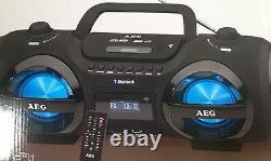AEG SR 4359 Bluetooth MP3 CD Player USB UKW Soundbox Ghettoblaster Boombox