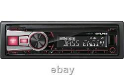 Alpine Cde-151e Single Din In-dash Car Stereo CD Mp3 Player Usb Aux Bass Eq