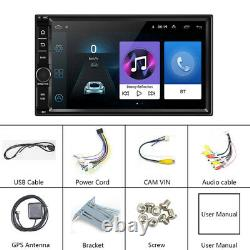 Android 8.1 WIFI/4G 7 Double 2DIN Car Radio Stereo CD DVD Player GPS NAV BT+MAP