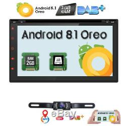 Android 8.1 WIFI 7 Double DIN Car Radio Stereo DVD Player GPS Navigation+Camera