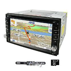 Backup Camera + GPS 6.2 Car Stereo Radio CD DVD Player Bluetooth with Map USB