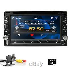 Backup Camera+GPS 6.2 Double 2 Din Car Stereo Radio DVD CD mp3 Player Bluetooth