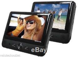 Bush 9791 9 LCD Dual 2 Screen Car DVD USB Player Car Headrest Multi-Region C75