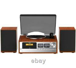Bush Classic Micro Combo Record Player with CD Bluetooth FM Wood / Black