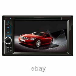 Camera+6.2 Double 2Din Car Stereo Radio DVD CD Player Mirrors For Android & IOS