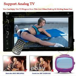 Car Audio Double Din 6.2touchscreen DVD CD Player Bluetooth & Remote Controller