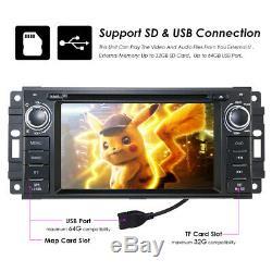 Car CD DVD player GPS Navigation radio Stereo fit Jeep Compass Patriot 2008-2015