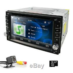 Car DVD CD Player 6.2 2DIN In Dash GPS Navigation+Map+BT+Radio Stereo+Camera