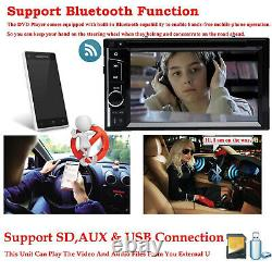Car Stereo CD DVD Player Double 2DIN FM Mirror Link For GPS Navigation with Camera