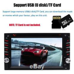 Car Stereo GPS Navigation Bluetooth Radio Double 2 Din 6.2 CD DVD Player Camera