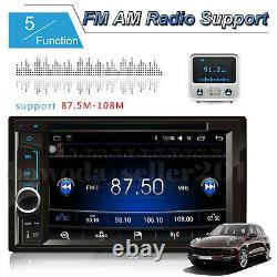 Car Stereo Radio 2DIN DVD FM AM Player Touch Screen Mirror For GPS + Rear Camera