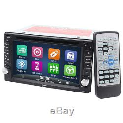 Car Stereo Radio DVD CD MP3 Player 6.2 Touch Screen Bluetooth 2DIN +Rear Camera